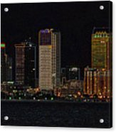Bay City Acrylic Print