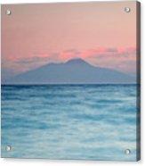 Bay Of Naples And Vesuvius From Capri Acrylic Print