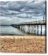 Bay Side Lynnhaven Fishing Pier Acrylic Print