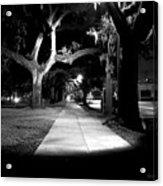 Bay Street Midnight Path Acrylic Print