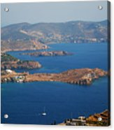 Bay View On Patmos Island Greece Acrylic Print