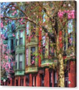 Bay Village Row Houses - Boston Acrylic Print