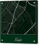 Baylor Street Map - Baylor University Waco Map Acrylic Print
