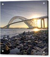 Bayonne Bridge Sunset Acrylic Print