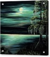 Bayou By Moonlight Acrylic Print