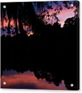 Bayou Sunset Acrylic Print