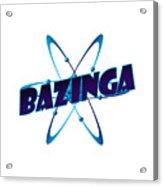 Bazinga - Big Bang Theory Acrylic Print by Bleed Art