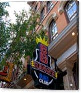 Bb King Bar Nashville Acrylic Print