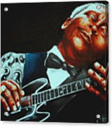 Bb King Of The Blues Acrylic Print by Richard Klingbeil