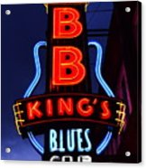 B B King's Blues Club Acrylic Print