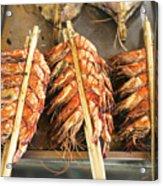 Bbq Fresh Grilled Prawns In Kep Market Cambodia Acrylic Print