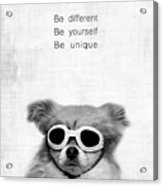 Be Different Be Yoursef Be Unique Acrylic Print