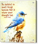 Be Faithful In Small Things Acrylic Print