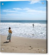 Be Safe - Malibu, United States - Color Street Photography Acrylic Print