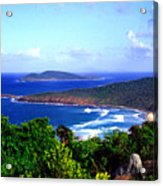 Beach And Cayo Norte From Mount Resaca Acrylic Print