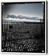 Beach And Fence Acrylic Print