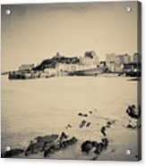 Beach And Harbour In Tenby Acrylic Print