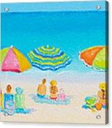 Beach Art - Crazy Lazy Summer Days Acrylic Print