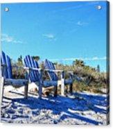 Beach Art - Waiting For Friends - Sharon Cummings Acrylic Print