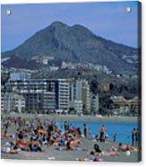 Beach At Barcelona In Spain Acrylic Print