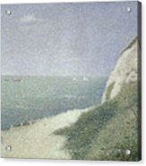 Beach At Bas Butin Acrylic Print by Georges Pierre Seurat