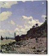 Beach At Honfleur Acrylic Print by Claude Monet