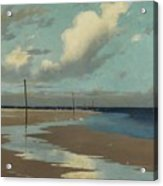Beach At Low Tide Acrylic Print by Frederick Milner