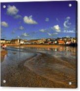 Beach At Perranporth Acrylic Print