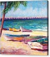 Beach At Progreso Acrylic Print