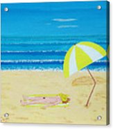 Beach Babe With All She Needs Acrylic Print