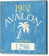 Beach Badge Avalon Acrylic Print
