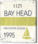 Beach Badge Bay Head Acrylic Print