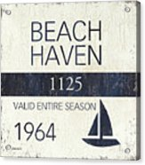 Beach Badge Beach Haven Acrylic Print