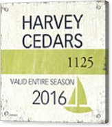 Beach Badge Harvey Cedars Acrylic Print
