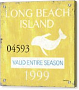 Beach Badge Long Beach Island 2 Acrylic Print