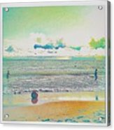Beach Ball And Swimmers Acrylic Print