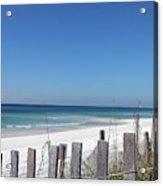Beach Behind The Fence Acrylic Print