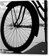 Beach Bicycle Acrylic Print