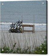 Beach Bicycles Acrylic Print