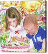 Beach Birthday Acrylic Print