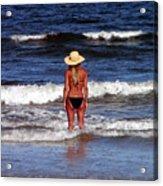 Beach Blonde - Digital Art Acrylic Print