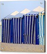 Beach Cabanas Acrylic Print