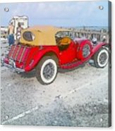 Beach Car Acrylic Print