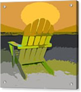 Beach Chair Work Number Seven Acrylic Print