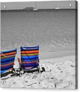 Beach Chairs 2  Acrylic Print