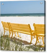 Beach Chairs By Darrell Hutto Acrylic Print