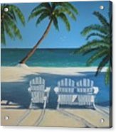 Beach Chairs No. 1 Acrylic Print