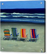 Beach Chairs Acrylic Print
