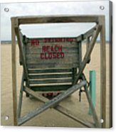 Beach Closed Acrylic Print