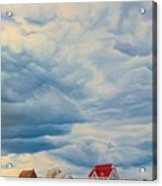 Beach Clouds Acrylic Print